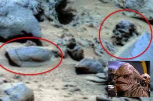 Un crâne extraterrestre repéré sur Mars près d'un bouclier