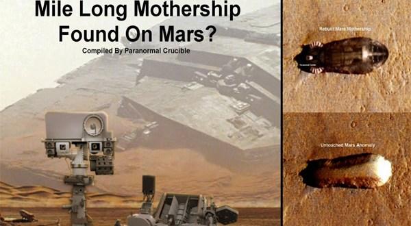 Un Ufologue repère un vaisseau mère à la surface de Mars