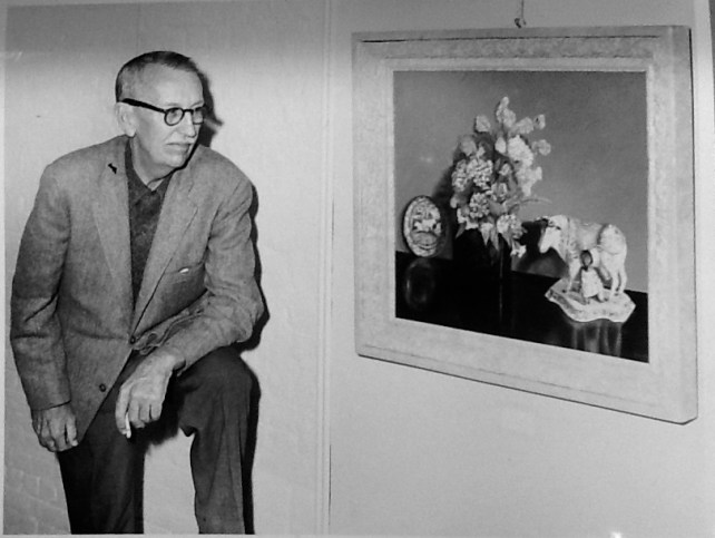 Eugene Otto and one of his paintings.jpg