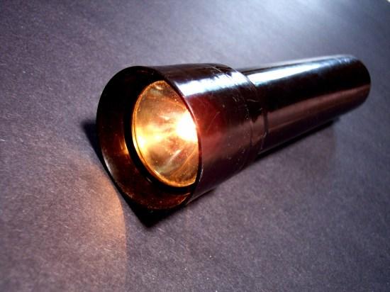 flashlight on floor