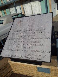 Memorial in front of MLK Jr.'s room.