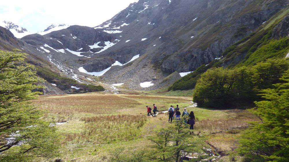 Uma das muitas paisagens incríveis da trilha para o Glaciar