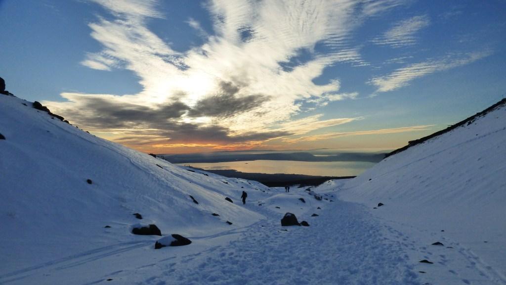 Entardecer no Vulcão Villarrica
