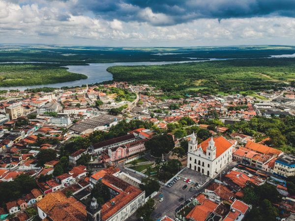 Aerial view of the Historic Center of Joao Pessoa