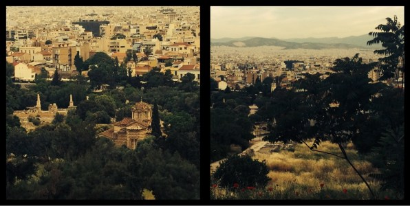 Overlooking the city of Athens