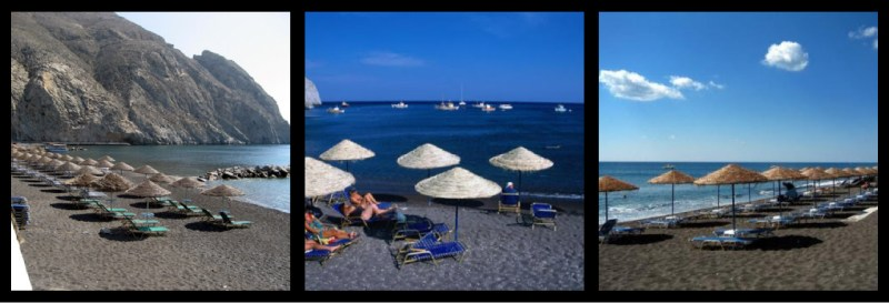 Perissa Beach Santorini Greece