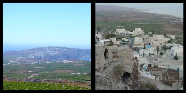 Akrotiri Township Santorini Greece