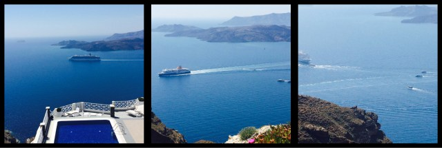 Views from the Ca;dera Thira Santorini Greece