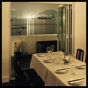 Table with a view. Yin Yang Private Kitchen. Hong Kong