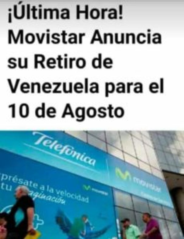 ¿ Movistar se va de venezuela? #falso 2
