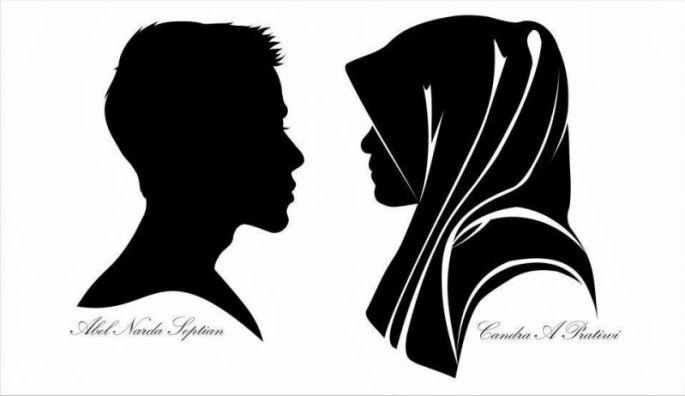 Siluet Wajah Couple