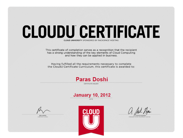 Cloud Computing Certificate