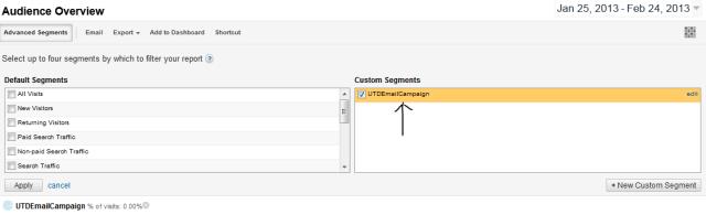 google analytics custom segments traffic