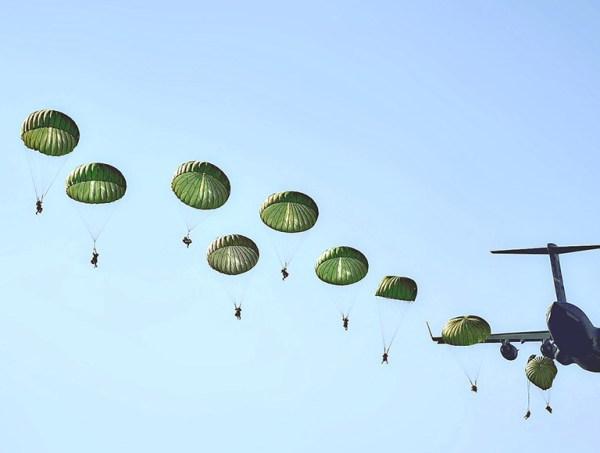 Сертификат на прыжок с круглым десантным парашютом