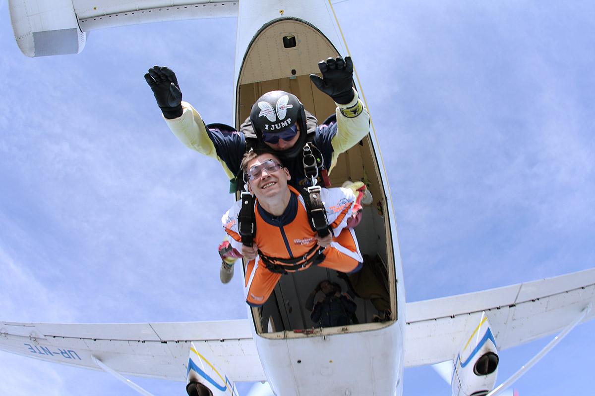 Тандем прыжки с парашютом в Киеве Чайка - ПАРА-СКУФ