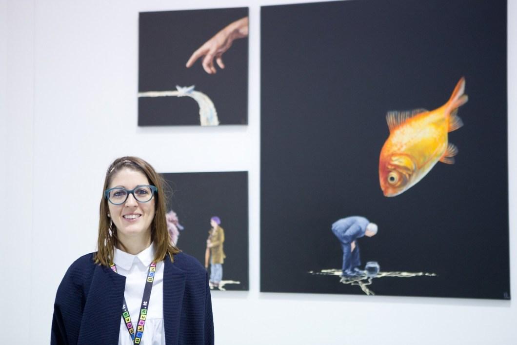 La curatrice Maria Azahara Hernando Ibáñez