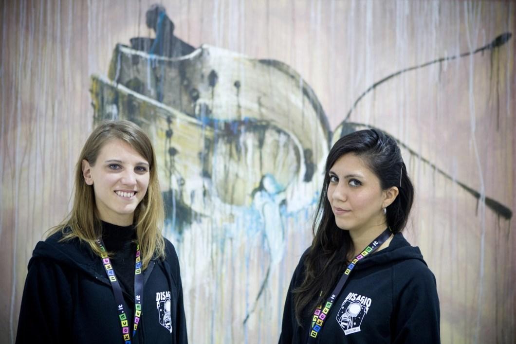 Le curatrici Rachele Re e Licia Marie Toccaceli