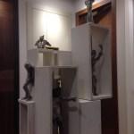 GERARDO ROSATO_52_02, scultura legno e alluminio, 2010, h100x40, H