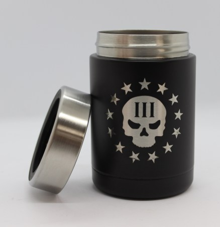 3% skull RTIC can holder with ring off