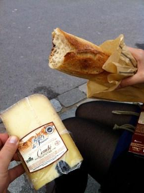 Comté and a fresh baguette
