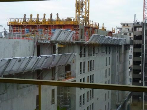Vue du haut de l'arrière de l'immeuble