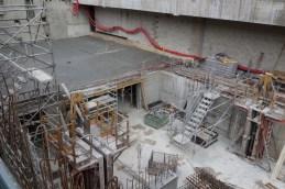 Le 1er niveau de sous-sol en début de construction @CK