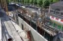 Mur de séparation des locaux techniques