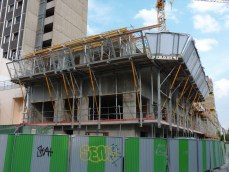 Echafaudage de protection et de sécurisation du chantier