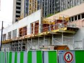 Prolongement des balcons du 1er étage et fenêtres des appartements du 1er étage