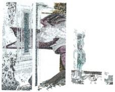 Détail de la création de l'image de la sérigraphie