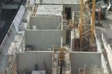 Côté médian, les murs des bureaux de l'Hôtel Ibis (2ème étage de Parc 17) se montent.