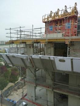 Vue à l'horizontale du 6° étage
