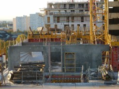 Parc 17, bâtiments A & B, murs des appartements du 8° étage et dalle du 9° étage du bâtiment A, 7 novembre 2014