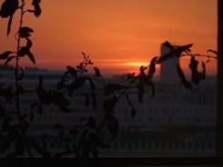 Coucher de soleil depuis le 8° étage face à Parc 17
