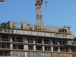 Bâtiment B, 10° étage en cours de réalisation