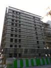 Echafaudage, bâtiment C, arrière du bâtiment