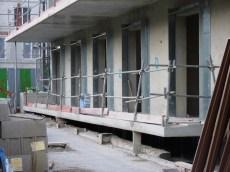 Balcon du rez-de-chaussée, bâtiment A