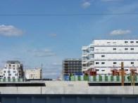 Bâtiment A de Parc 17 depuis le quartier Saussure