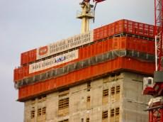 Taille atteinte par le bâtiment de la future Cité judiciaire au 7 novembre 2015