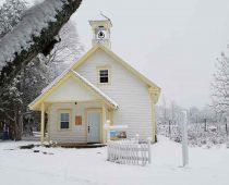 Notre petite école de rang en hiver