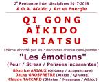 Rencontre inter disciplines : Qi Gong, Aïkido, Shiatsu - 24-25 février 2018