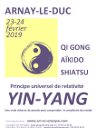 Yin Yang – stage 23 et 24 février – Rencontre inter disciplines
