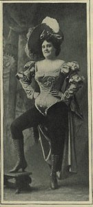 Chorus girl in costume