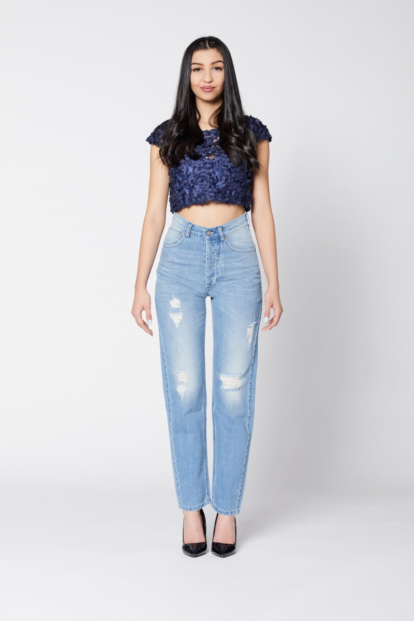 Fucsia Work Jeans