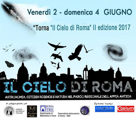 """Il """"Cielo di Roma"""" all'Appia Antica: 2, 3, 4 giugno"""
