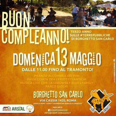 13 maggio. Buon Compleanno, Borghetto San Carlo!