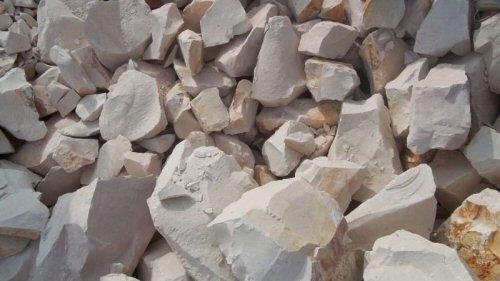 Kaolin, roche d'argile blanche