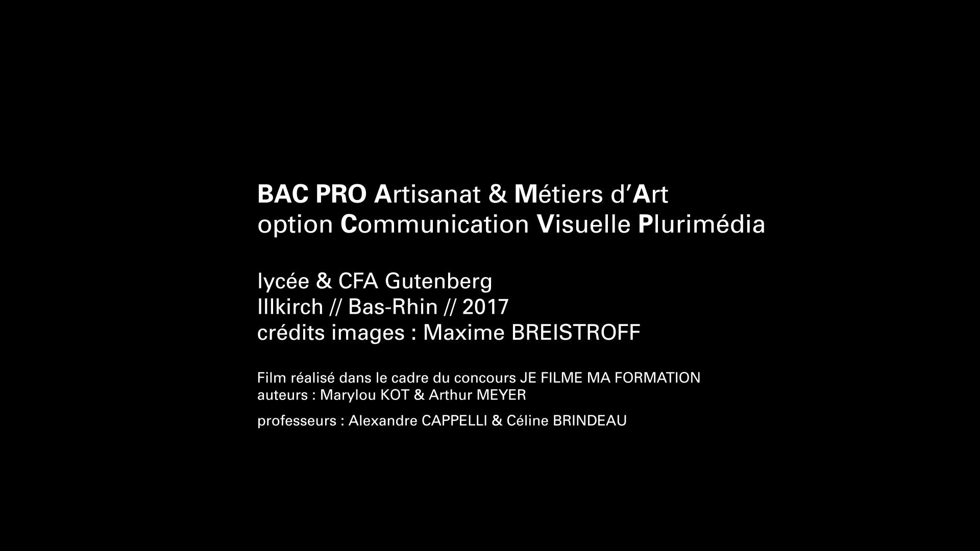 Parcoursmetiers Video Promotionnelle Ama Cv Artisanat Metiers D Arts Communication Visuelle Plurimedia