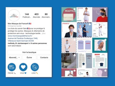 Exemple d'une page Instagram pour monter l'animation des réseaux sociaux faite par l'agence digitale Pardalys.