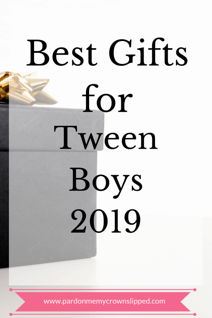 Cool and trendy presents for the tween boy on your gift giving list for 2019. #gifts #tweens #boygifts